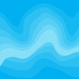 Abstract Light Blue Vector Background. With Waves Royalty Free Stock Image