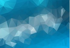 Abstract Light BLUE vector blurry triangle background design. Geometric background in Origami style with gradient.  royalty free illustration
