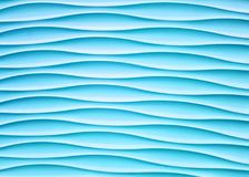 Abstract light blue wall with wave plaster shape for background.  stock illustration