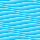 Abstract light blue wave background. Seamless ripple texture Stock Photography