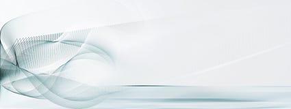 Light blue and white motion lines background. Abstract light blue, white, straight and curved motion lines on blurred light blue horizontal background banner vector illustration