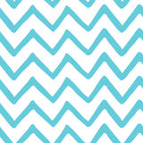 Abstract Light Blue Zig Zag Seamless Hand Painted Pattern. Nature Sea Fabric Texture. Vector Template Chevron Background For Summe Stock Image