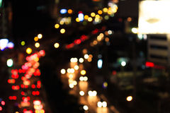 Abstract light blur traffic on road Royalty Free Stock Images