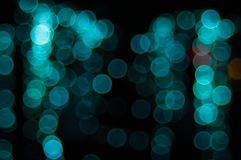 Abstract Light Bokeh Background.Blur picture of defocus light at night. Royalty Free Stock Photo