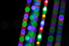 Abstract Light Bokeh Background.Blur picture of defocus light at night. royalty free stock photos