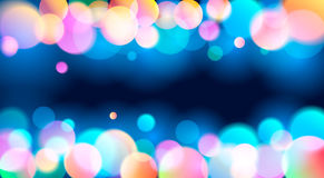 Abstract Light Bokeh Background, Vector Illustration Stock Photos