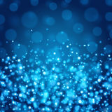 Abstract Light Bokeh Background Vector Illustration. Magic Defocused Glitter Sparkles. Good for promotion materials, Brochures, Banners. Abstract Backdrop Royalty Free Stock Image