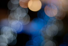 Abstract light bokeh. Blue abstract light bokeh background royalty free stock image
