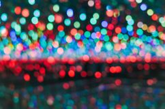 Green and red background with bokeh defocused lights stock photos