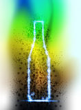 Abstract light bottle Stock Photo