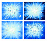 Abstract Light and Bubbles Background Royalty Free Stock Image