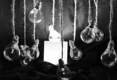 Abstract light bulb Stock Photo