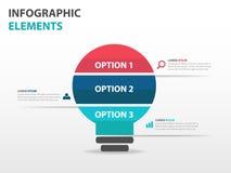 Abstract light bulb business Infographics elements, presentation template flat design vector illustration for web design marketing Stock Photos