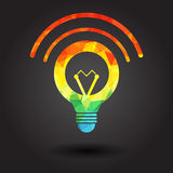 Abstract light bulb illustration Royalty Free Stock Image