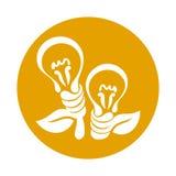 Abstract light bulb Royalty Free Stock Photo