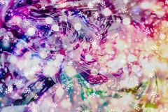 Festive Christmas background. Elegant abstract background with bokeh defocused lights and stars. Abstract light celebration background with defocused golden Royalty Free Stock Photos