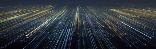 Abstract Light City Speed Motion stock photography