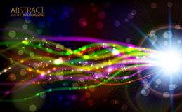 Abstract light color glowing background. Abstract vector light color glowing background Royalty Free Stock Photos