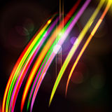 Abstract light color glowing line design against dark background Royalty Free Stock Photo