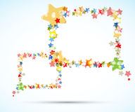 Abstract light color stars frame flying background Royalty Free Stock Photography