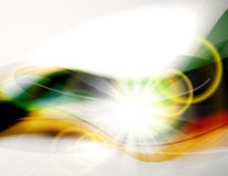 Abstract light and colorful waves Stock Images