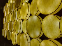 Abstract light decoratives yellow glowing circles stock image
