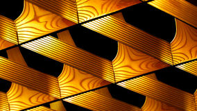 Abstract Light Fixture. Ceiling light fixture design in golden yellow Royalty Free Stock Photography