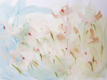 Abstract Art Painting Flower Background. Abstract light flower painting. Modern art background stock image