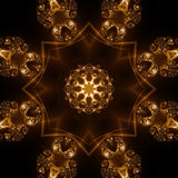 Abstract Light Forms. Pattern, coming from a fractal design Stock Illustration
