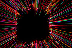 Abstract light frame with black background Stock Image