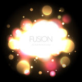 Abstract light fusion bubble background Stock Photos