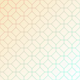 Abstract light geometric pattern of intersecting octagons  and squares. Royalty Free Stock Image