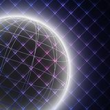 Abstract light globe on black background vector. Illustration Stock Photography