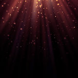 Abstract light god and glitter background Royalty Free Stock Photography