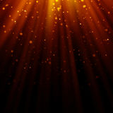Abstract light god and glitter background Stock Photos