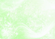 Abstract light green background. With stars and flowers Royalty Free Stock Images