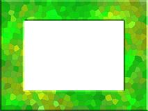 Abstract light green photo frame. In the stained glass style vector illustration
