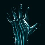 Abstract light hand Stock Photography
