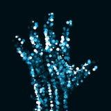 Abstract light hand. Futuristic illustration Royalty Free Stock Photo
