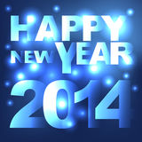 Abstract light Happy New Year background Royalty Free Stock Photography