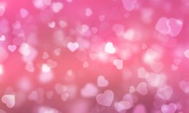 Abstract light Heart bokeh background, Christmas lights, Blurry lights, Glitter sparkle, Valentine Festival. Abstract light Heart bokeh background, Christmas Stock Photos