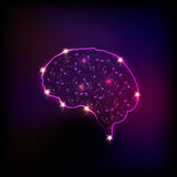 Abstract light human brain. Easy editable Royalty Free Stock Photography