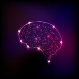 Abstract light human brain. Easy editable Vector Illustration
