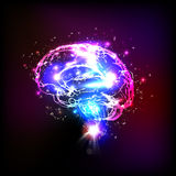 Abstract light human brain. Illustration Royalty Free Stock Photography