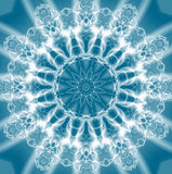 Abstract Light jewel over blue stock photography