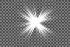 White glowing light burst explosion with transparent. royalty free illustration