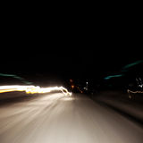 Abstract light in the moment fast moving cars Stock Image