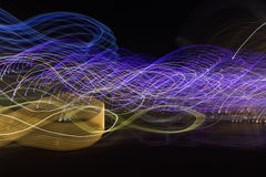 Abstract light movement background. In urban Royalty Free Stock Photo