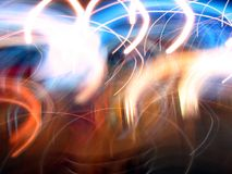 Abstract Light Movements Royalty Free Stock Photography