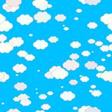 Abstract light multicolor clouds on blue summer sky, Texture background, Seamless illustration Royalty Free Stock Photography